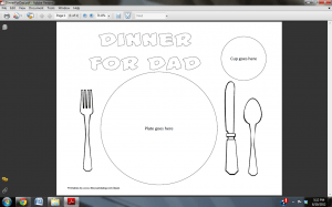 Dinner for Dad Placemat {Father's Day Craft}