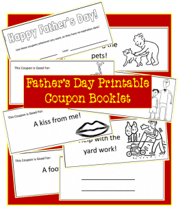 Coupon Book for Dad {Father's Day Craft}