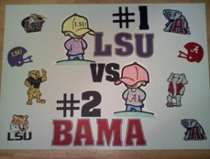 Will You Be Watching LSU vs Alabama #GlueNGlitter