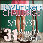 31 Days to Clean Challenge (#31DaystoClean)