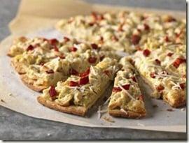 RECIPE:  Roasted Red Pepper and Artichoke Pizza