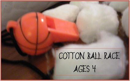 Child Development Cotton Ball Race