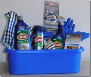 GIVEAWAY:  Comet Stainless Steel Cleaning Caddy ($60 value)