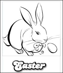 FREE:  Easter Coloring Page