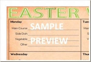 Menu Plan Monday: Free Easter Menu Printable