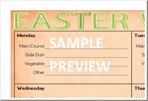 Menu Plan Monday: Free Easter Menu Printable