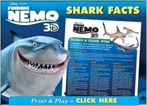 FREE: Shark Week Fun Shark Facts from Nemo!