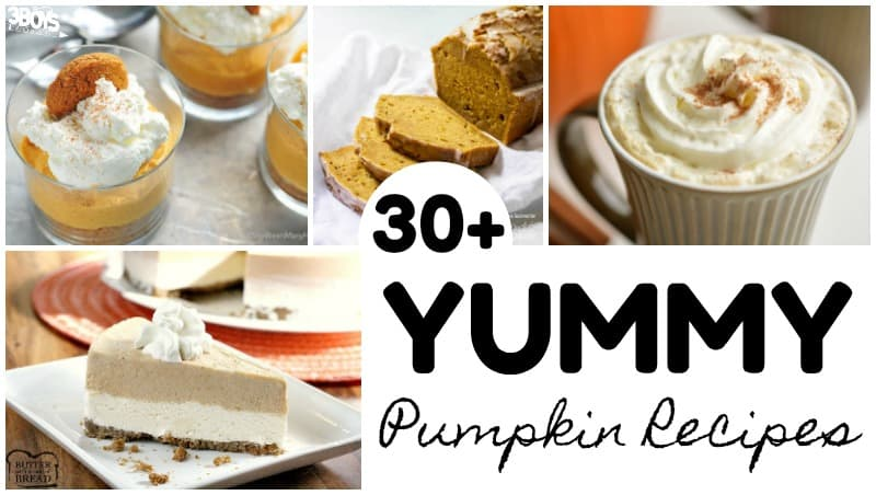 Over 30 Yummy Pumpkin Recipes