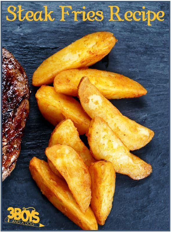 Delicious Oven Baked Steak Fries Recipe