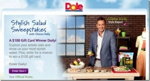 @Dole Stylish Salad Sweepstakes #win