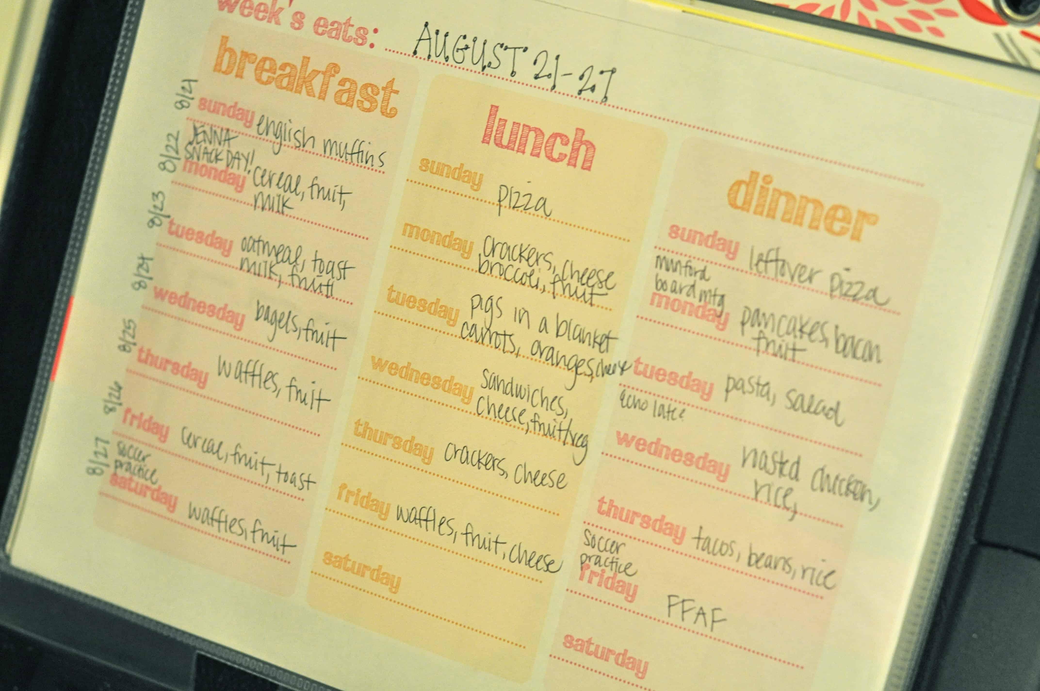 bnfts menu