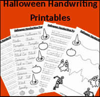 #Homeschooling Freebies: Halloween Handwriting Printables