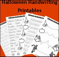 #Homeschooling Freebies: Halloween Handwriting Printables