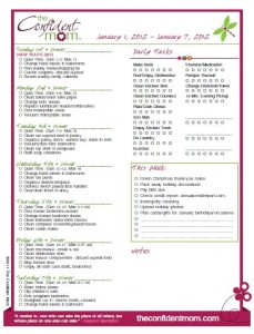 2012 Confident Mom Weekly Planner only $5