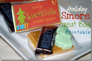 Free Printable Smores Holiday Treat Bag Label