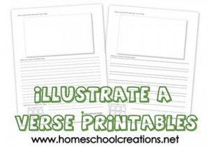 FREE: Printable Illustrated Bible Verses Homeschool