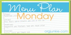 Menu Plan Monday: 02/27 – 03/04/2012