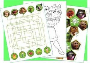 Free: Muppets Christmas Activity Worksheet Pack #homeschool