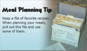 Meal Planning Tip 7: Family Favorites