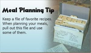 Meal Planning Tip 7: Family Favorites