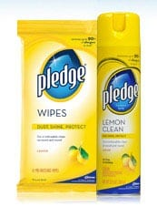REVIEW:  The Pledge® Yellow Can (Holiday Cleaning)