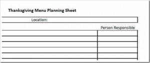 Free Printable:  Thanksgiving Menu Planning Sheet