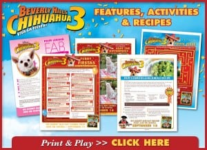 FREE:  Beverly Hills Chihuahua 3 Activity Sheets!