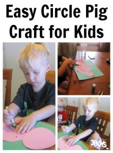 Circle Pig Craft for Kids to Make