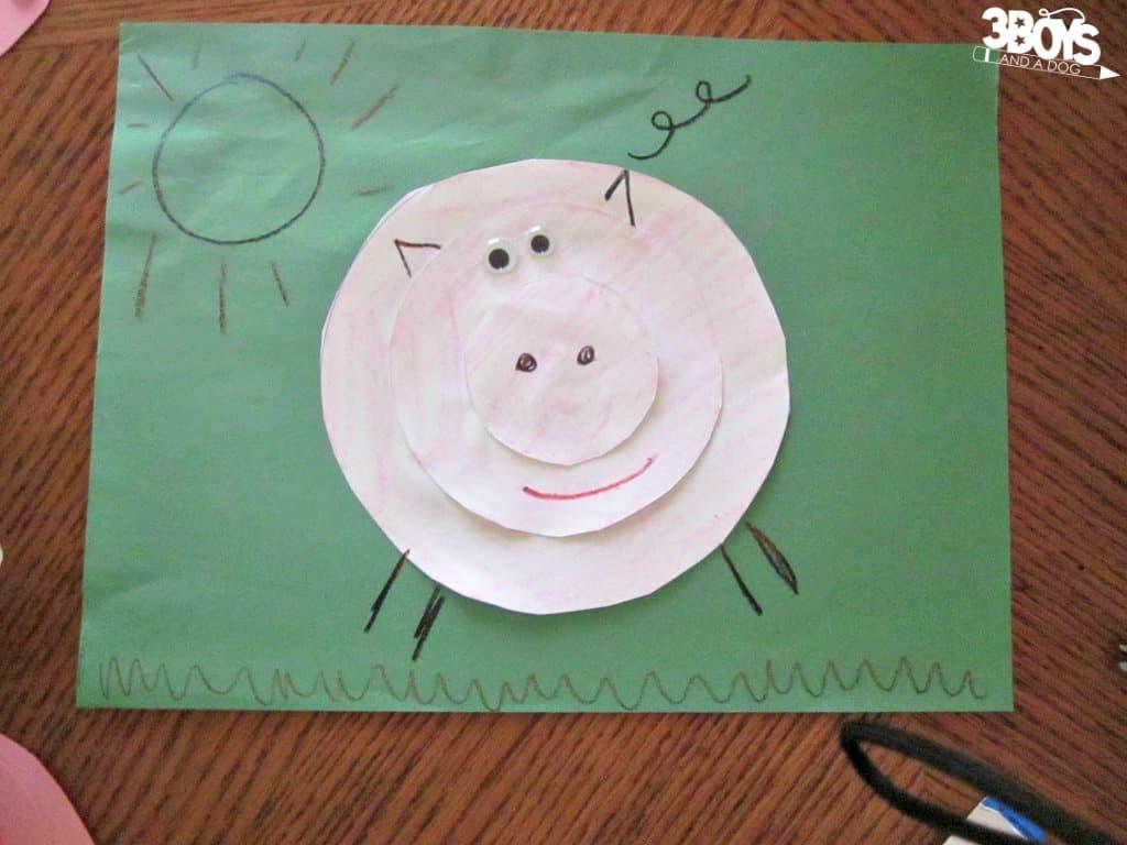 Circle Pig Craft for Kids
