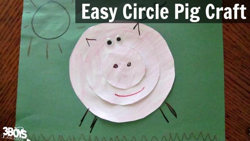 Circle Pig Craft for Preschool