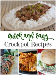Easy (and quick) Crockpot Recipes