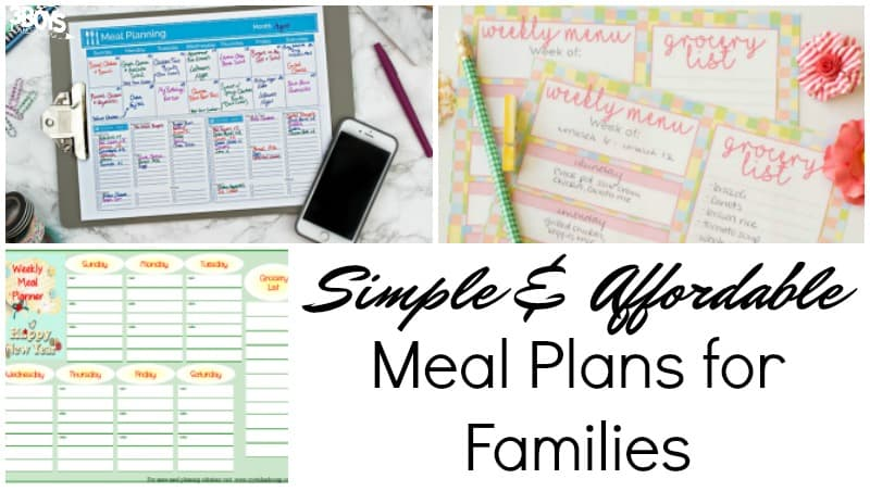Simple Meal Plans for Families
