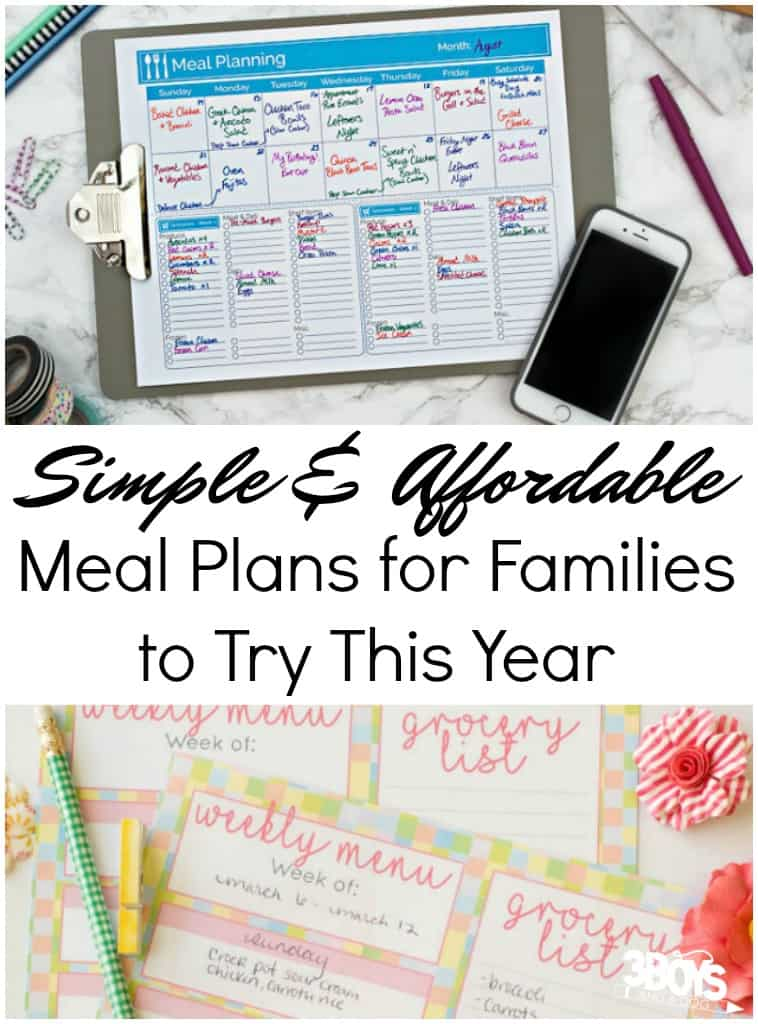Simple and Money Saving Meal Plans for Families