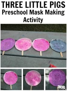 Three Little Pigs: Mask Craft {Preschool Reading Comprehension}