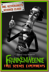 FREE:  Frankenweenie Science Activity Sheets