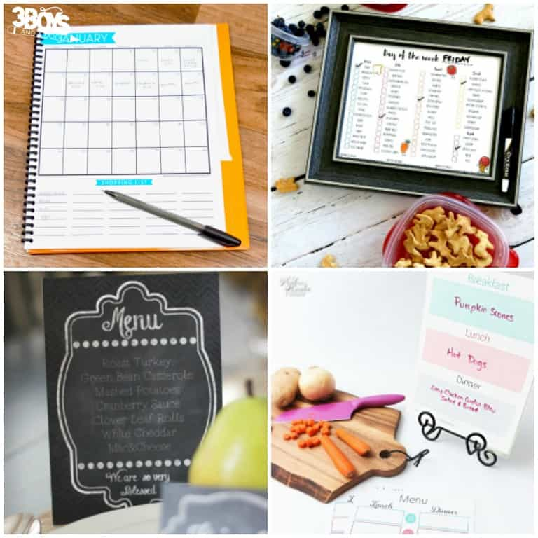 Printable Meal Plans for Families and Kids