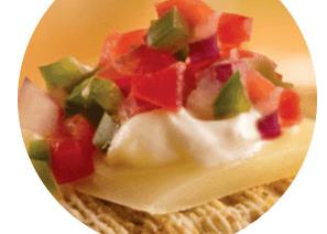 Southwestern Fiesta Triscuit Topper (game day recipe)