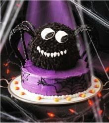 Halloween Recipe:  Spooky Spider Cake