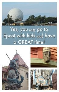 Yes you can go to Epcot with kids and have fun!