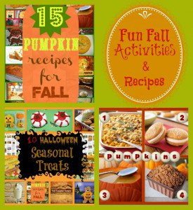 Fun Fall Favorites! Recipes and Activities with linky