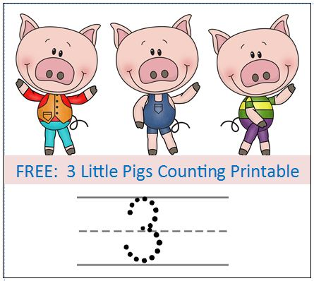 Bricks, Sticks, and Straw — use these printables to practice your ...