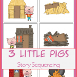 Three Little Pigs Sequencing – Printable Story Cards