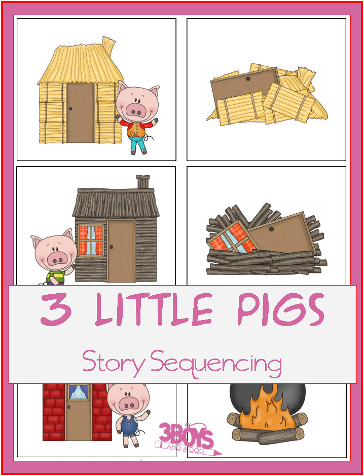 photograph about Printable Sequencing Cards named A few Tiny Pigs Sequencing Printable Tale Playing cards 3