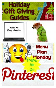Blogging, Menu Plans and Holiday Gift Guide #socialmedia hop