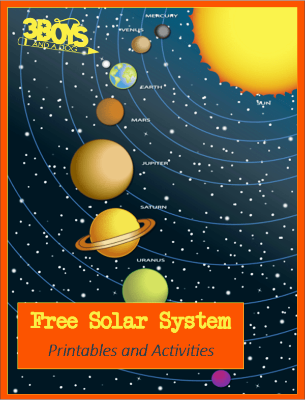 photo relating to Printable Solar System Pictures referred to as Cost-free: Sun Method Printables and Things to do 3 Boys and a Puppy