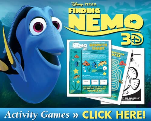 Free Finding Nemo Printable Activities 3 Boys And A Dog