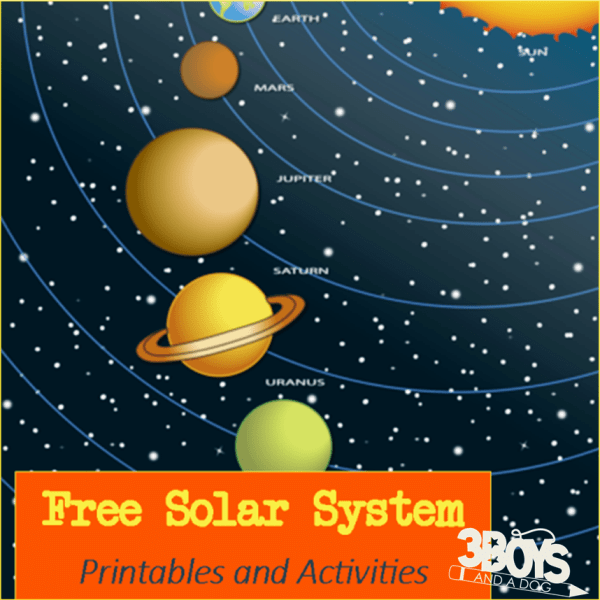 picture about Solar System for Kids Printable called Cost-free: Sunlight Procedure Printables and Routines 3 Boys and a Canine