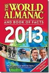 GIVEAWAY: The World Almanac and Book of Facts 2013