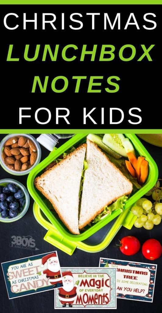 christmas lunch box notes for kids