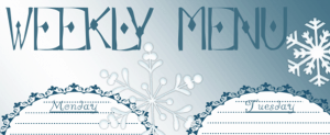 FREE: Printable Weekly Menu (MPM)